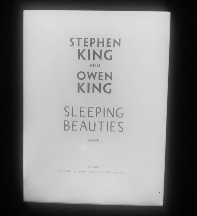 What do you do when you wake up in the middle of the night and cannot get to sleep? You just start reading a book titled Sleeping Beauties by #stephenking And then it's morning....