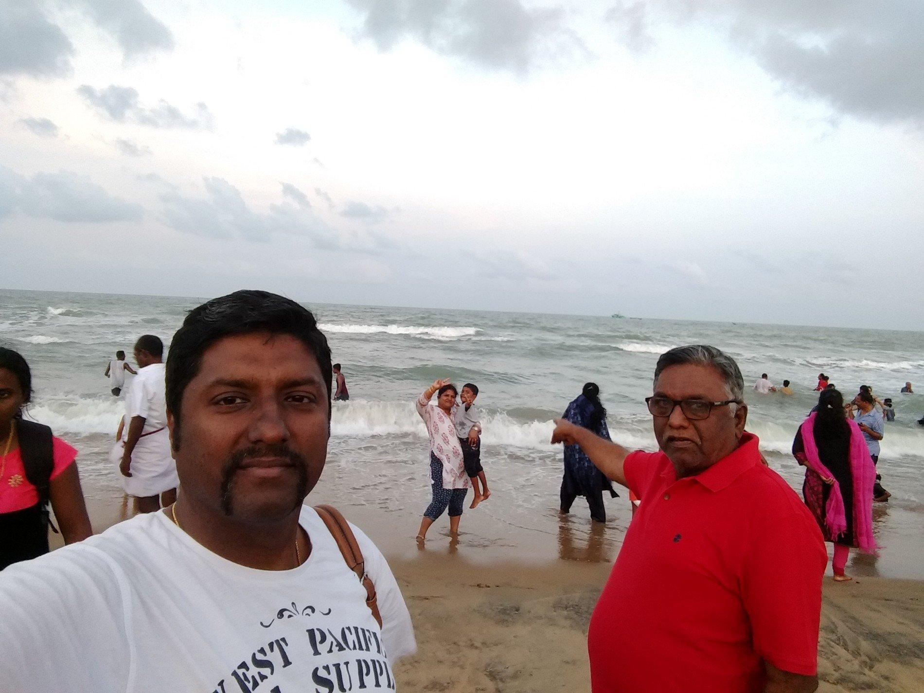 Checked in at Velankanni Beach