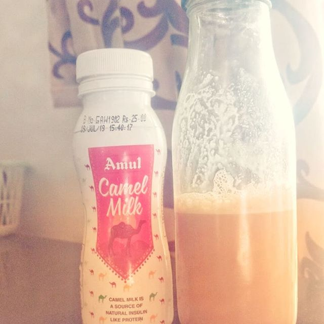 nowhaving an iced coffee with 🐫 milk instead of 🐄 milk...