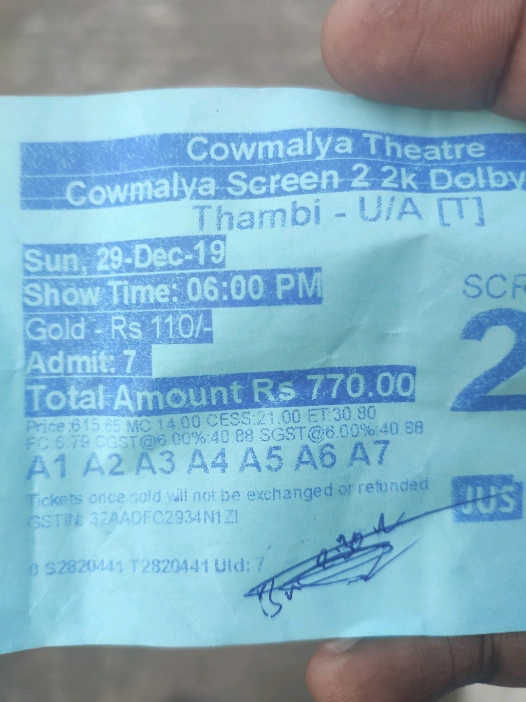 Checked in at cowmalaya theatre
